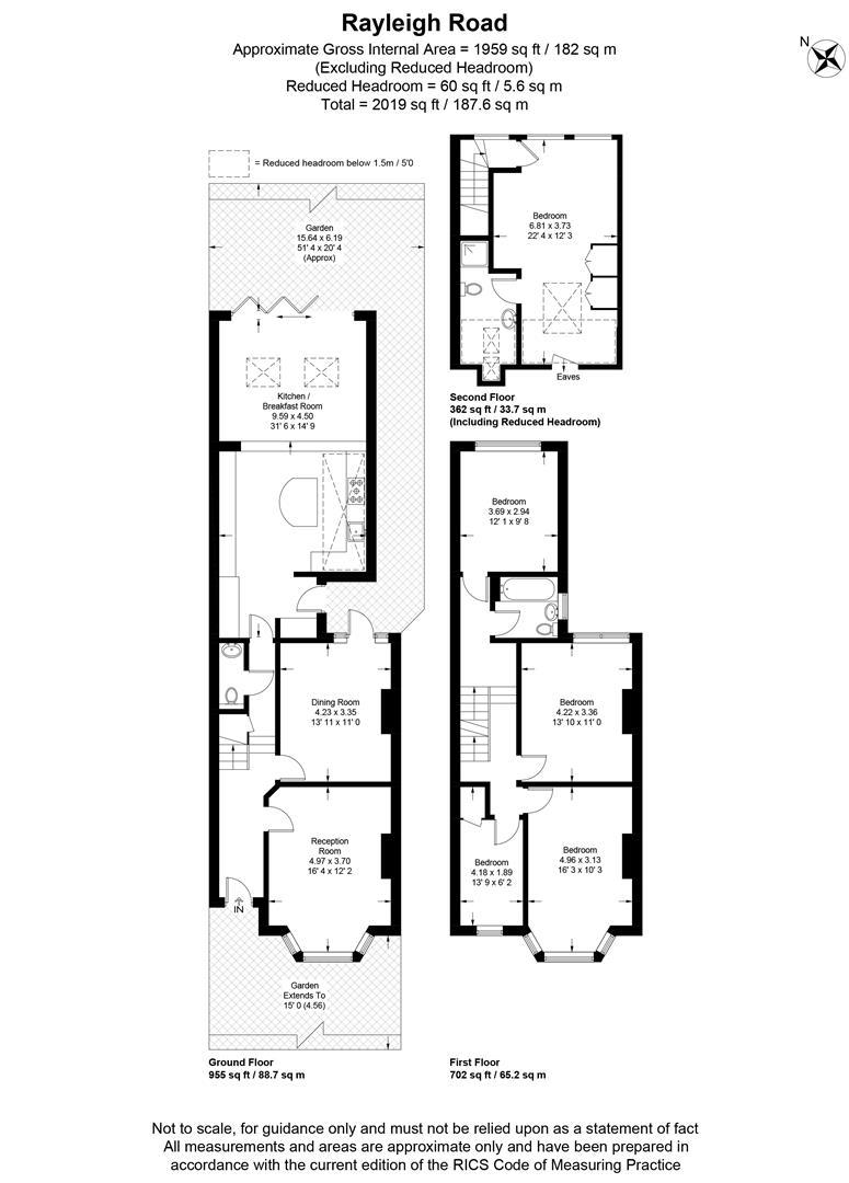 Floorplan for Rayleigh Road, Wimbledon